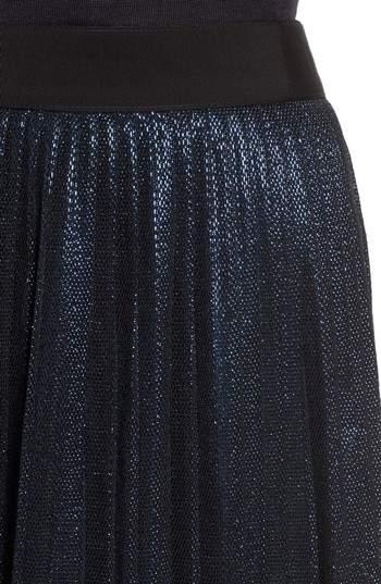 BOSS Miplisa Metallic Pleated Midi Skirt