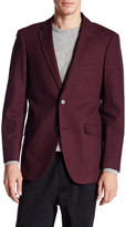 U.S. Polo Assn. Burgundy Houndstooth Two Button Notch Lapel Modern Fit Suit Separates Sports Coat