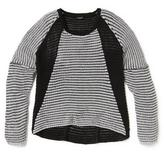 Point Zero Contrast Panel Knit Sweater