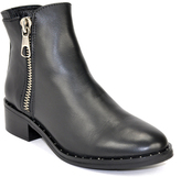 Steve Madden Lanna-S - Leather Zipper Ankle Boot