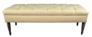 Mjl Furniture Designs MJL Furniture Claudia Diamond Tuft Dawson7 Upholstered Long Bench
