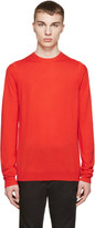 McQ by Alexander McQueen Red Wool Knit Pullover
