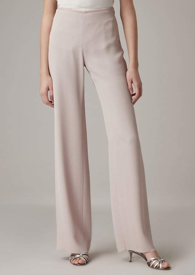 9216b4fa67 Cropped Pants In Plain-Colored Silk Blend Cady