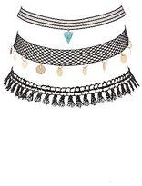 Charlotte Russe Embellished Crochet & Mesh Choker Necklaces - 3 Pack
