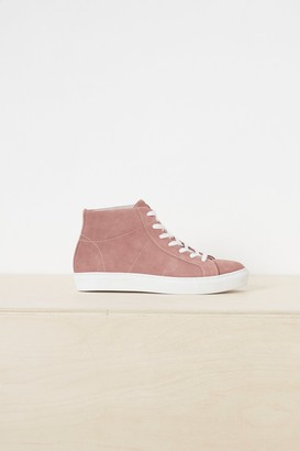 French Connenction Edie Suede High Top Trainers