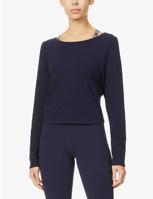 Lorna Jane Open-back cropped cotton top
