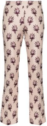 Giambattista Valli Floral Print Straight Trousers