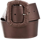 Prada Leather Metallic Belt