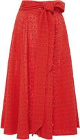Lisa Marie Fernandez High Waist Eyelet Beach Skirt