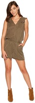 1 STATE 1.STATE - Sleeveless V-Neck Ruffle Back Romper Women's Jumpsuit & Rompers One Piece