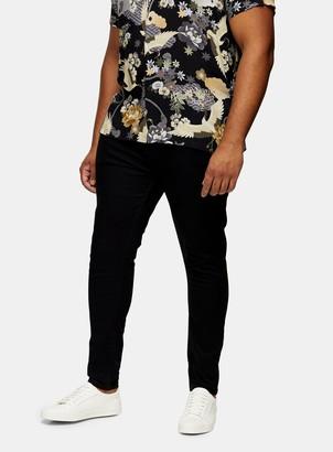 Topman BIG & TALL Black Spray On Skinny Jeans*