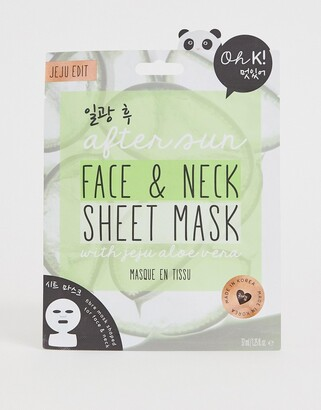 Oh K! After Sun Face And Neck Sheet Mask with Jeju Aloe Vera
