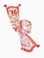 Kate Spade Taco menu oblong scarf