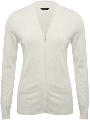 M&Co Spirit V neck zip up cardigan