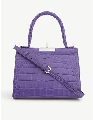 Gu_de Play croc-embossed leather top-handle bag