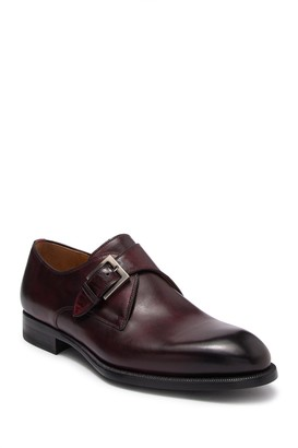 Magnanni Brodie Leather Monk Strap Shoe