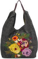 Jamin Puech floral embroidered shoulder bag