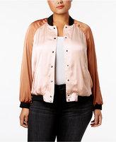 Melissa McCarthy Trendy Plus Size Reversible Bomber Jacket