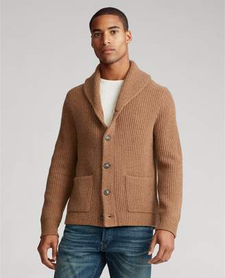 Ralph Lauren Wool Shawl-Collar Cardigan