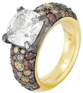JOOP! Joop Women's Ring 925 Sterling Silver Rhodium-Plated Crystal Zirconia Extreme Pave Multi-coloured multicoloured