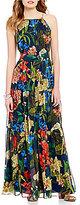 Gibson & Latimer Tropical Sleeveless Printed Maxi Dress