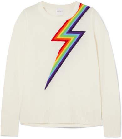 Madeleine Thompson Styx Intarsia Cashmere Sweater - Cream