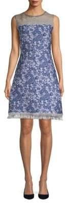 Elie Tahari Aria Floral-Print Cloque Dress
