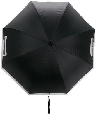Karl Lagerfeld Paris Cat Face bicolour umbrella