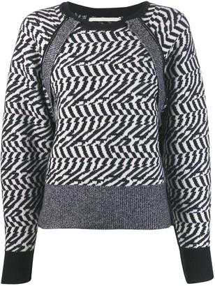 Stella McCartney herringbone glitch sweater