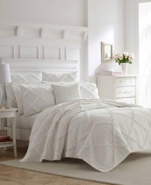 Laura Ashley Maisy White Quilt Set, King Bedding