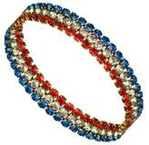 Stars & Stripes Products American Patriot Bracelet - 3 Rows Crystals