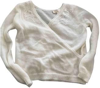Sézane Sezane Fall Winter 2018 White Wool Knitwear
