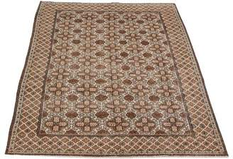 "Levi's Isabelline One-of-a-Kind Levis Hand-Knotted 4'9"" x 7'7"" Wool Brown/Beige Area Rug Isabelline"