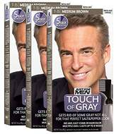Just For Men Touch Of Gray Comb-In Men's Hair Color, (Pack of 3)