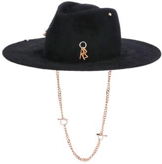 Ruslan Baginskiy Pierced-Detailed Fedora Hat