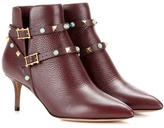 Valentino Rockstud Rolling Leather Ankle Boots