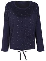George Star Print Fleece Pyjama Top