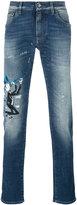 Dolce & Gabbana musical patch slim fit jeans - men - Cotton/Spandex/Elastane - 48