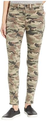 Hudson Barbara High-Waist Super Skinny Ankle in Worn Camo (Worn Camo) Women's Jeans