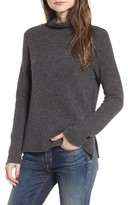 James Perse Women's Stretch Cashmere Mock Neck Sweater