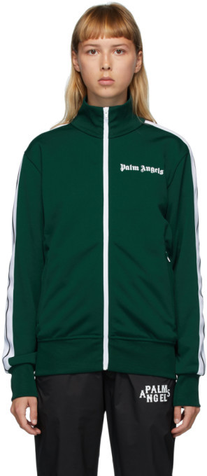 Palm Angels Green Classic Track Jacket