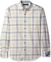 Nautica Men's Long Sleeve Plain Twill Large Plaid Shirt