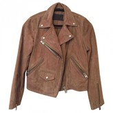AllSaints Brown Suede Jacket for Women