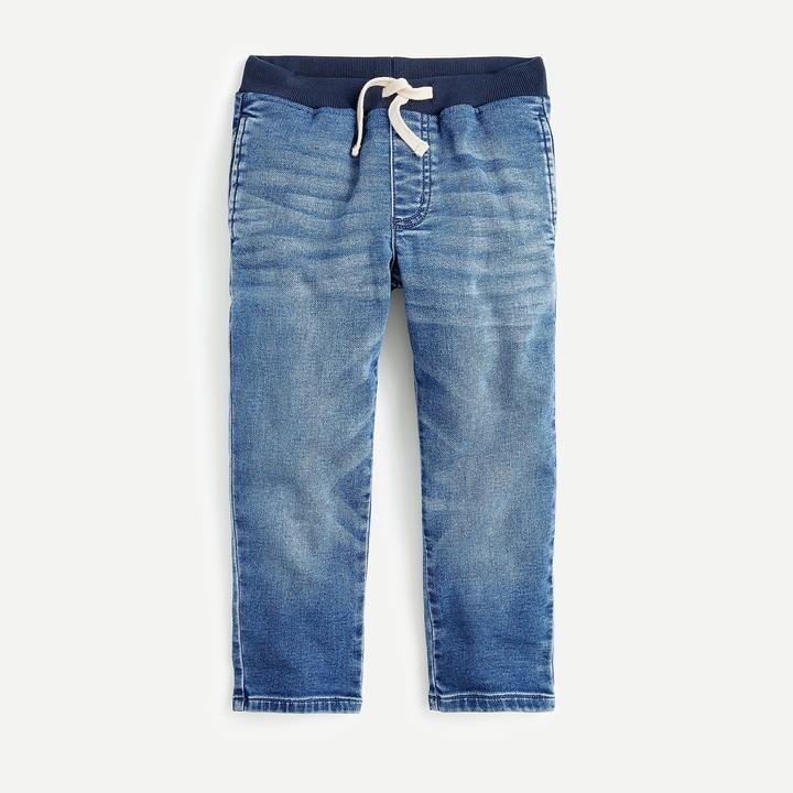 J.Crew Boys' homeroom wash runaround jean in pull-on fit