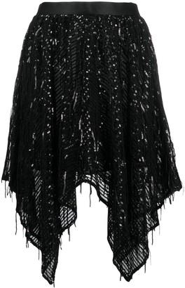 Just Cavalli Asymmetrical Sequin Skirt
