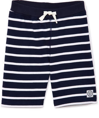 SAM. Sophie & Boys' Casual Shorts NAVY/WHITE - Navy & White Stripe Drawstring-Waist Shorts - Toddler & Boys