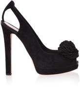 Alexander McQueen Flower Peep Toe Sandals
