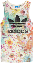 adidas Floral Print Tank with Logo