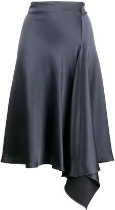 P.A.R.O.S.H. Privat draped satin skirt