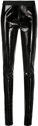 Ann Demeulemeester Shiny-Effect Skinny Trousers